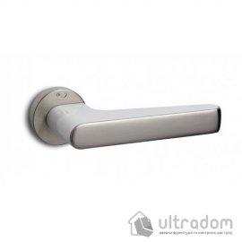 Ручка дверная Convex 2015 (никель матовый/белый)