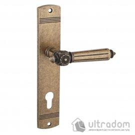 Дверная ручка на планке под ключ (85 мм) SIBA RIMINI античная бронза