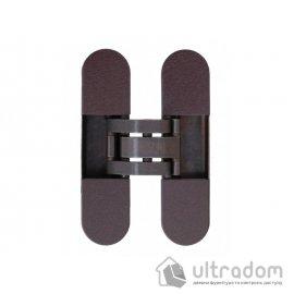Скрытая дверная петля AGB Eclipse 2.0, 110х30 мм коричневая бронза с колпачками