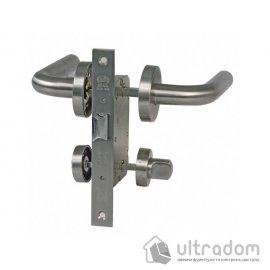 AMIG Kit ALFA Межкомнатные ручки с защёлкой WC из нержавеющей стали