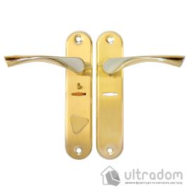 Ручка на планке BORDER D-42/01-1 G-L цвет «золото» ( к замкам  ЗВ9-6ЛК; Эльбор 1.06.40;)