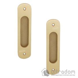 Дверная ручка-ракушка DOGANLAR латунная, матовая латунь, 2 шт (d_29 29)