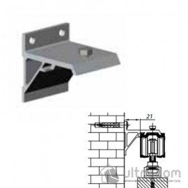 Настенная дистанцирующая скоба для рельсы Valcomp Н2, плинтус до 15 мм, двери до 40 мм