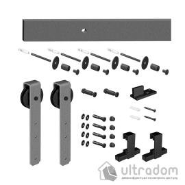 Комплект раздвижной системы Mantion THOR в стиле LOFT, серебристый