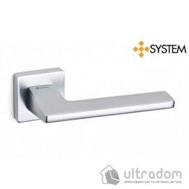 Дверная ручка SYSTEM HANDLE ZETTA матовый хром браш