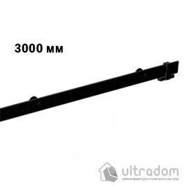 Направляющая рельса 3000 мм Mantion ROC Design в стиле LOFT, матовая чёрная (217-620)