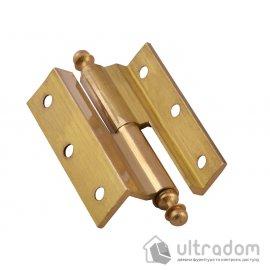 Угловые латунные дверные петли, Sofuoglu 50 мм., цвет - латунь