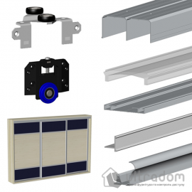 Valcomp MARS Комплект раздвижной системы  для 3-х дверей шкафа-купе L3000*H2700