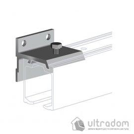 Настенный крепеж для направляющей рельсы Valcomp H2 , дверь до 45 мм.