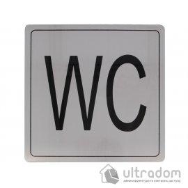 """Табличка информационная """"WC"""" Amig mod.1 нержавеющая сталь"""