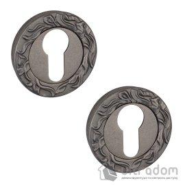Накладки под цилиндр PZ SIBA R07 античное серебро 84 84