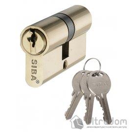 Цилиндр дверной SIBA английский ключ-ключ 70 мм