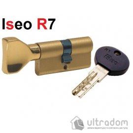 Цилиндр дверной ISEO R7 ключ - тумблер, 75 мм