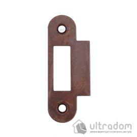 Ответная планка для замка AGB с ровным отбойником, цвет - бронза коричневая