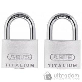Комплект навесных замков ABUS (2шт), 726TI/40 TWIN B/PL