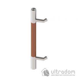 Дверная ручка-скоба Wala P44D Ø40 мм нерж. сталь с деревянной вставкой односторонняя