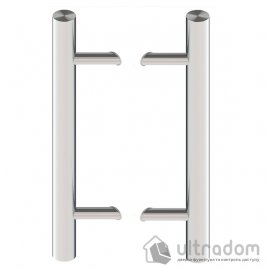 Дверная ручка-скоба Wala P45 нержавеющая сталь Ø50 мм  под углом 45° двухсторонняя