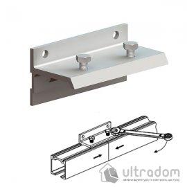Настенный крепеж для соединения 2-х направляющих рельс Valcomp Н2, двери до 45 мм