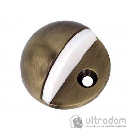 Amig Ограничитель дверной напольный мод.101 - Ø45 x 25 мм античная бронза