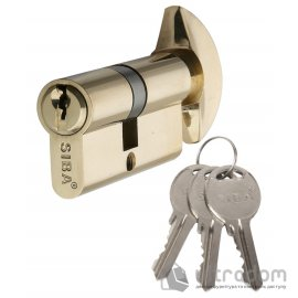 Цилиндр дверной SIBA английский  ключ-вороток 68 мм