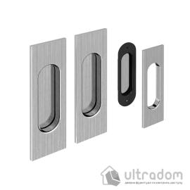 Ручки - ракушки для раздвижных дверей Valcomp прямоугольные, никель