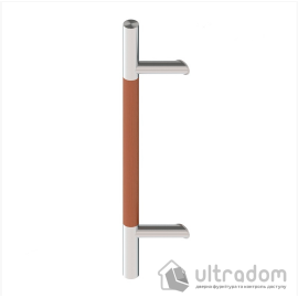 Дверная ручка-скоба Wala P45D Ø30 мм нерж. сталь с деревянной вставкой под углом 45° односторонняя