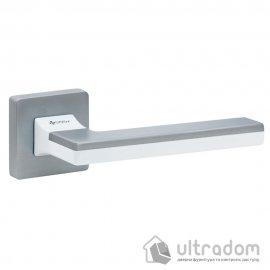 Дверная ручка SYSTEM HANDLE LARISSA матовый хром/белый/матовый хром
