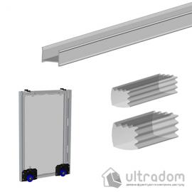 Соединительный профиль для монтажа зеркала в двери шкафа-купе в раздвижных системах Valcomp MARS L=2000 мм (219-104)