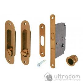 Ручки-ракушки Hafele с замком WC для раздвижных дверей, бронза коричневая