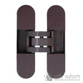 Скрытая 3D петля OTLAV  Invisacta IN300 120х30мм,  бронза коричневая с колпачками (IN300120BO02)