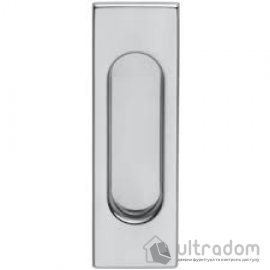 Ручки - ракушки для раздвижных дверей DND by Martinelli Rettangolare матовый хром