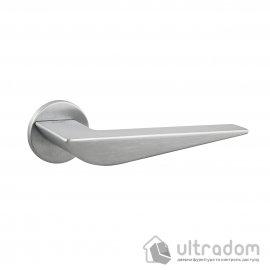Дверная ручка на розетке Unique VEGAS матовый хром (VEGRO24SB-Z2B)