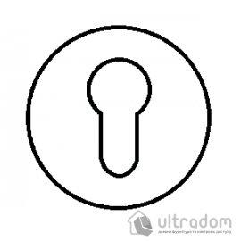 TUPAI накладка для евроцилиндра PZ круглая на тонкой розетке мод. 4046 5S