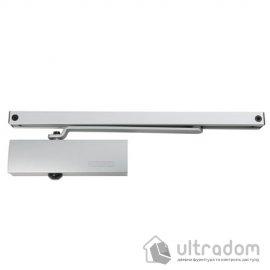 Дверной доводчик GEZE TS 1500 G со скользящей тягой, серебристый (TS1500G_silver)