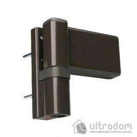 Дверная петля DHV 3D для ПВХ двери коричневая