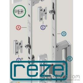 Многозапорный замок-рейка REZE 1800 мм (стандарт - 85 мм) с доп.ригелем