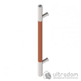 Дверная ручка-скоба Wala P10D Ø30 мм нерж. сталь с деревянной вставкой односторонняя
