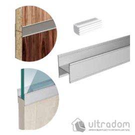 Соединительный профиль Valcomp MARS для монтажа деревянных / стеклянных вставок, L=2000 мм, серебро