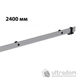 Направляющая рельса 2400 мм Mantion ROC Design в стиле LOFT, матовая серая