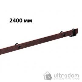 """Направляющая рельса 2400 мм Mantion ROC Design в стиле LOFT, коричневая бронза """"под ржавчину"""""""
