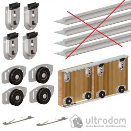 Комплект роликов Valcomp Herkules ARES2 для 2-х дверей шкафа - купе до 70 кг (219-090)