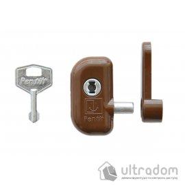 Детский замок безопасности Pentilt, для поворотно-откидного окна, коричневый