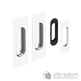 Ручки - ракушки для раздвижных дверей Valcomp прямоугольные, белые