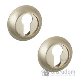 Накладки под цилиндр PZ SIBA R02 матовая латунь / золото полированное 29 09