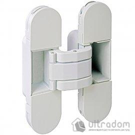 Скрытая дверная петля AGB Eclipse 2.0, 110х30 белая с колпачками