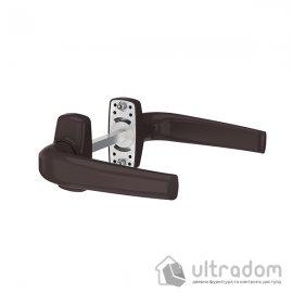 MEDOS Merkury Ручка дверная на овальной розетке, коричневая RAL8019
