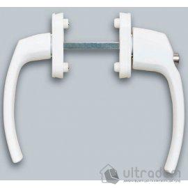 Ручка балконная с ключом IMAT Filiz, двухсторонняя, белая