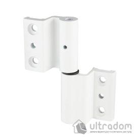 Дверная петля для алюминиевой двери IKAR AA-190 белая