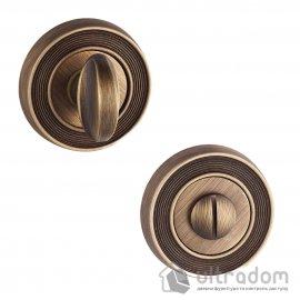 Накладка  WC UNIQUE W02 на розетке R094, матовая бронза