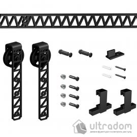 Комплект раздвижной системы Mantion ROTA в стиле LOFT, матовый чёрный
